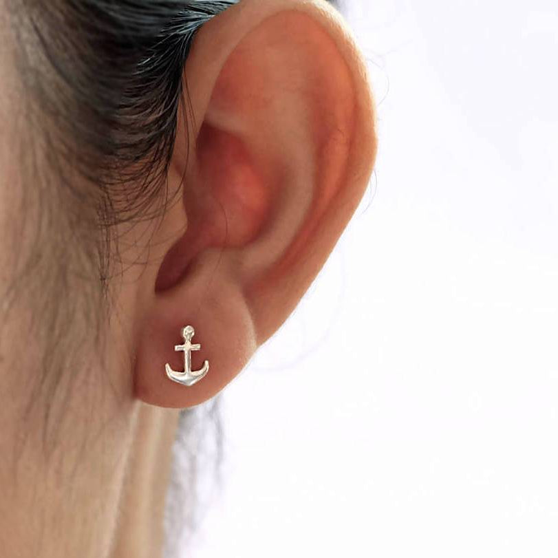 Anchor Away Stud Earrings