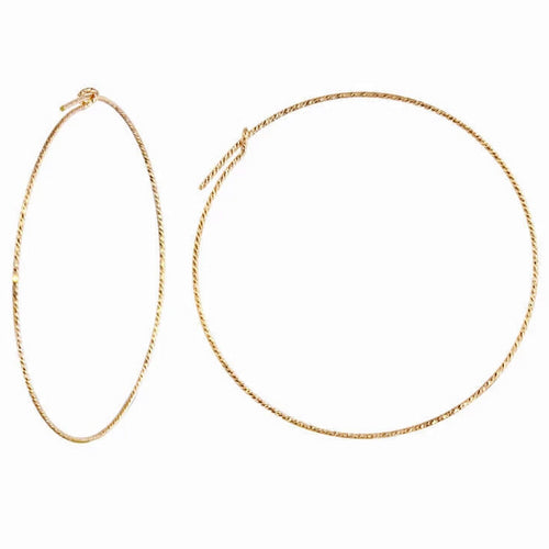 Sparkle Sleek Big Hoop Earrings