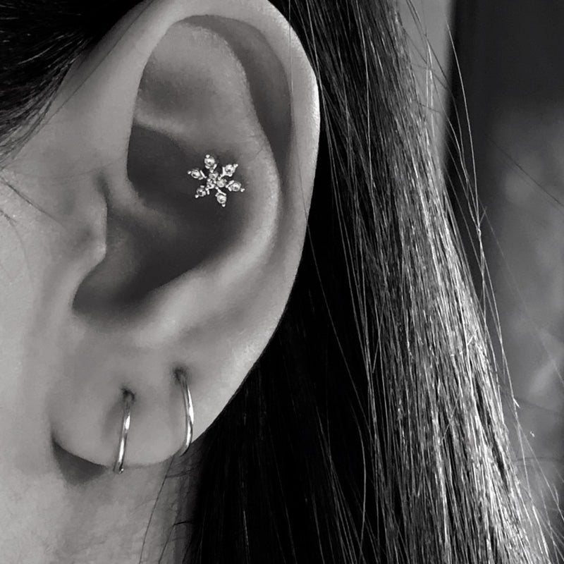 Snowflake Cartilage Barbell