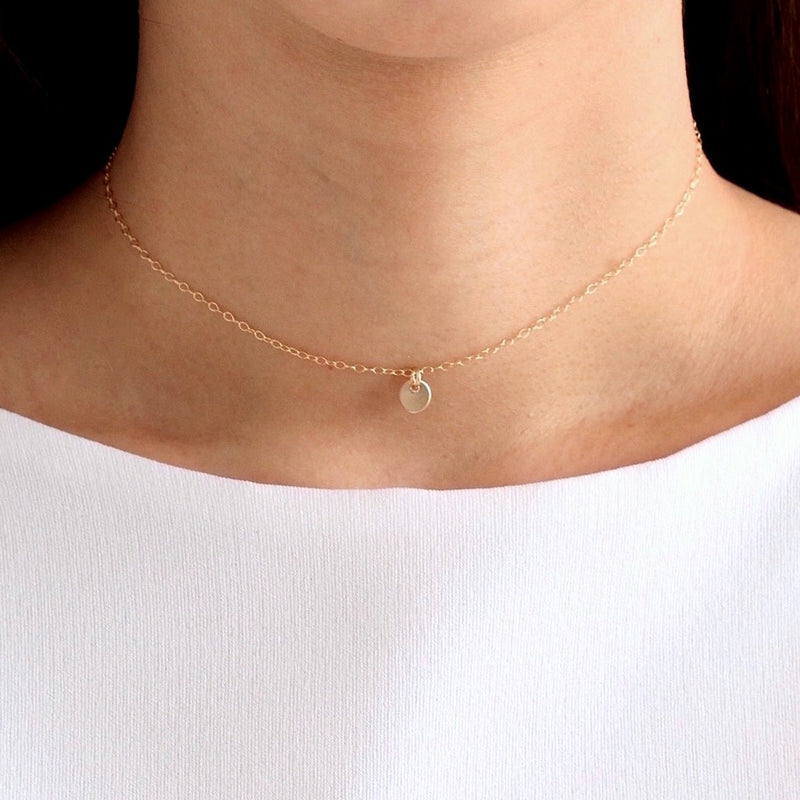 Little Disc Choker Necklace