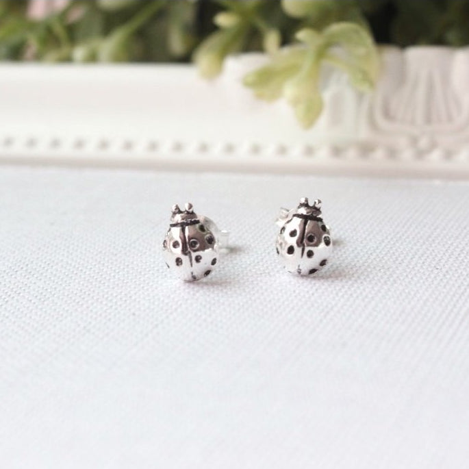 Ladybug Stud Earrings