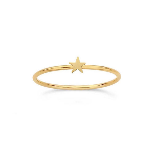 Little Golden Star Ring