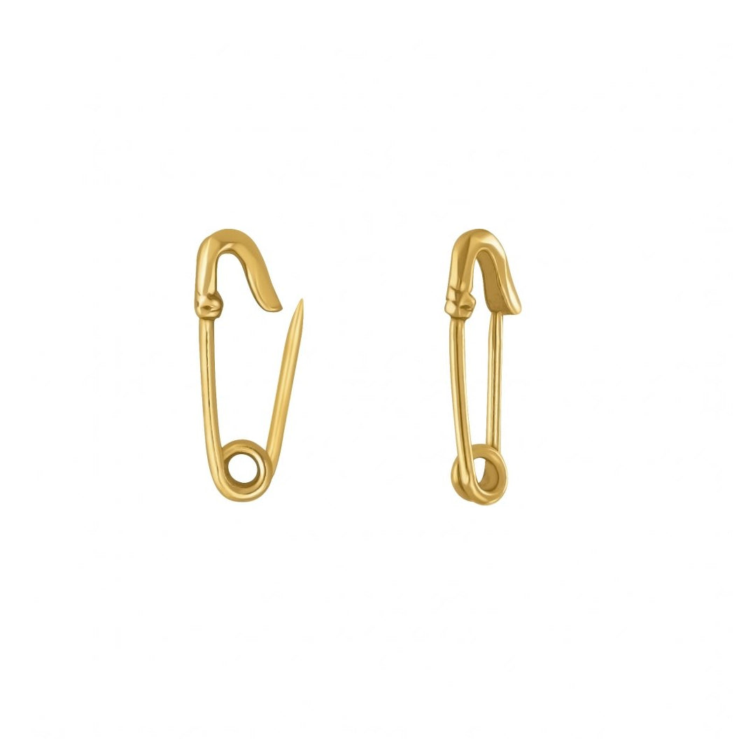 Little Safety Pin Earrings