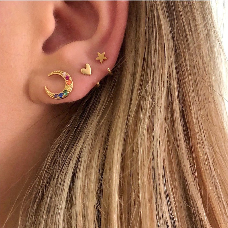 Little Star Huggie Earrings