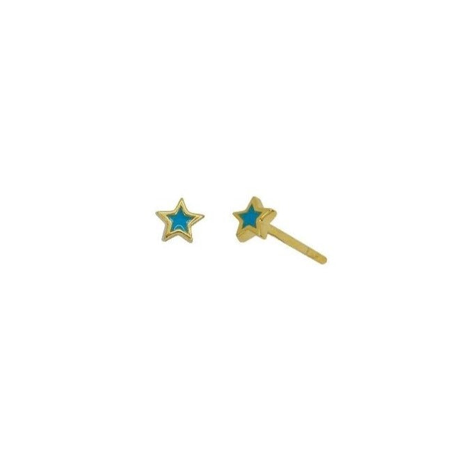 Little Turquoise Star Stud Earrings