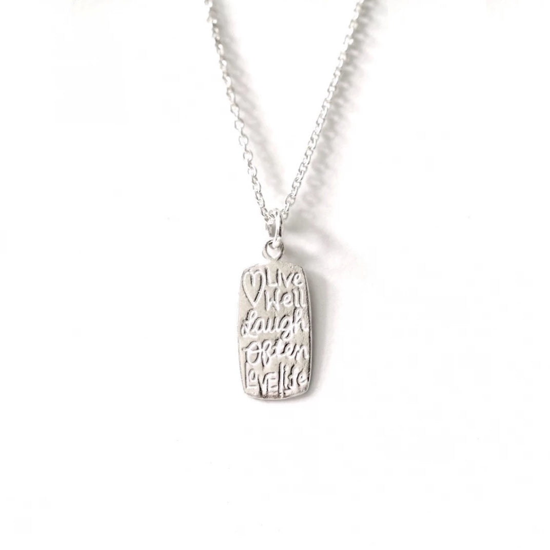 Live Well Laugh Necklace
