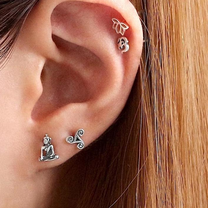 Buddha Stud Earrings
