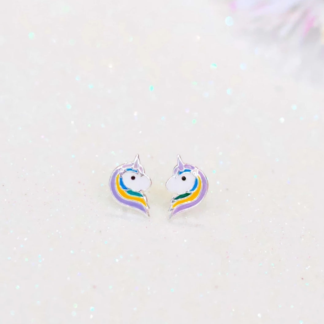 Merlion Unicorn Stud Earrings