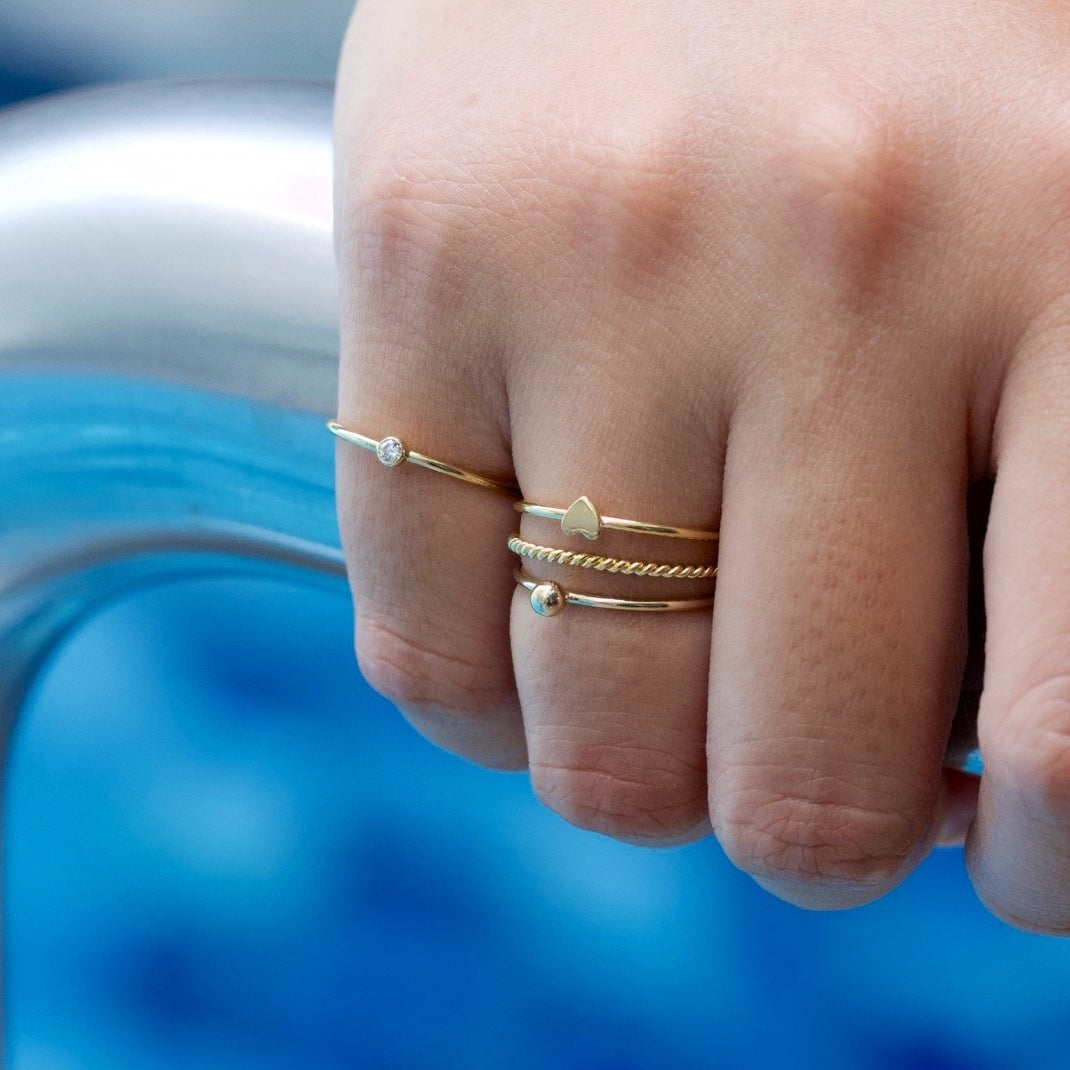 Golden Sole Ball Ring