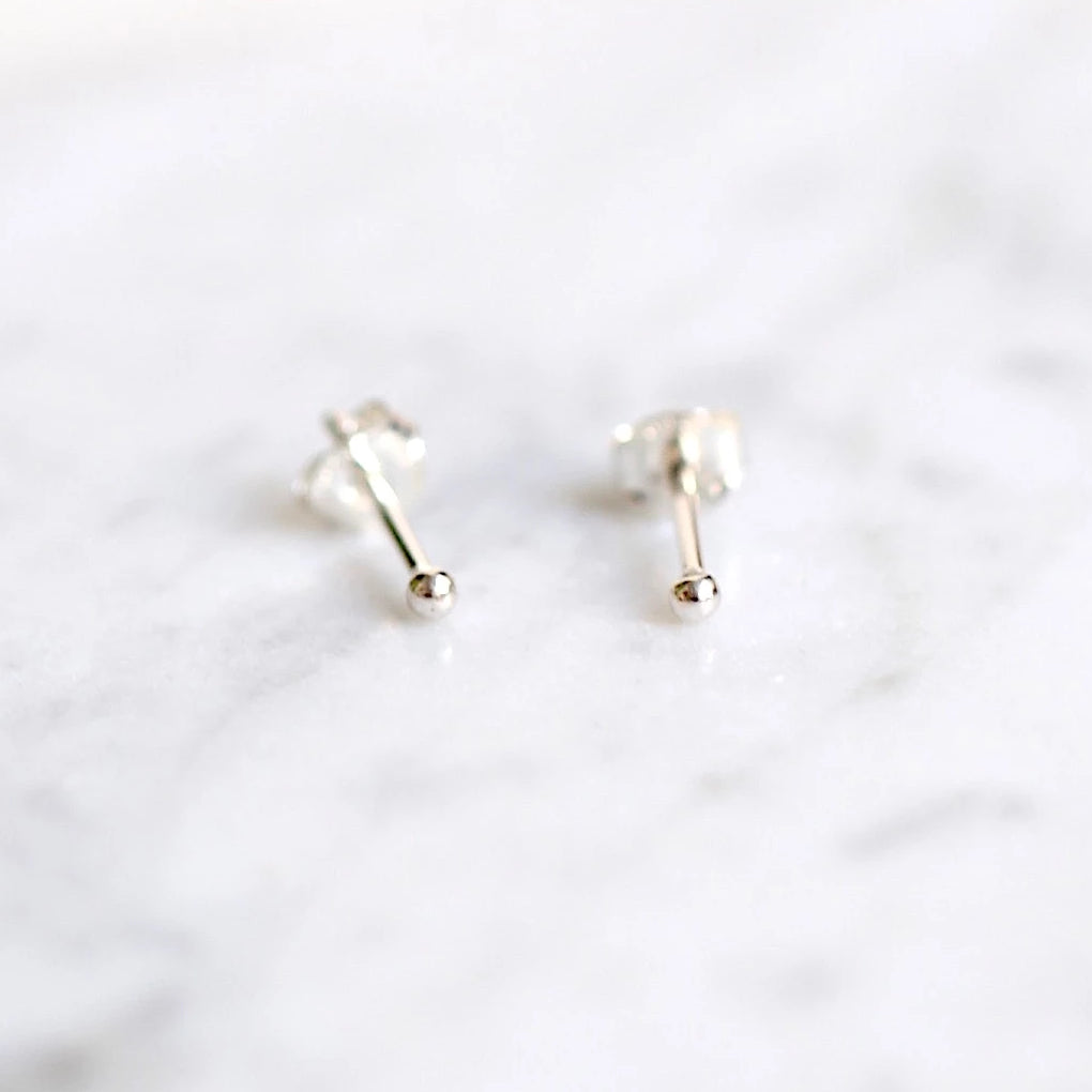 Mini Ball Stud Earrings