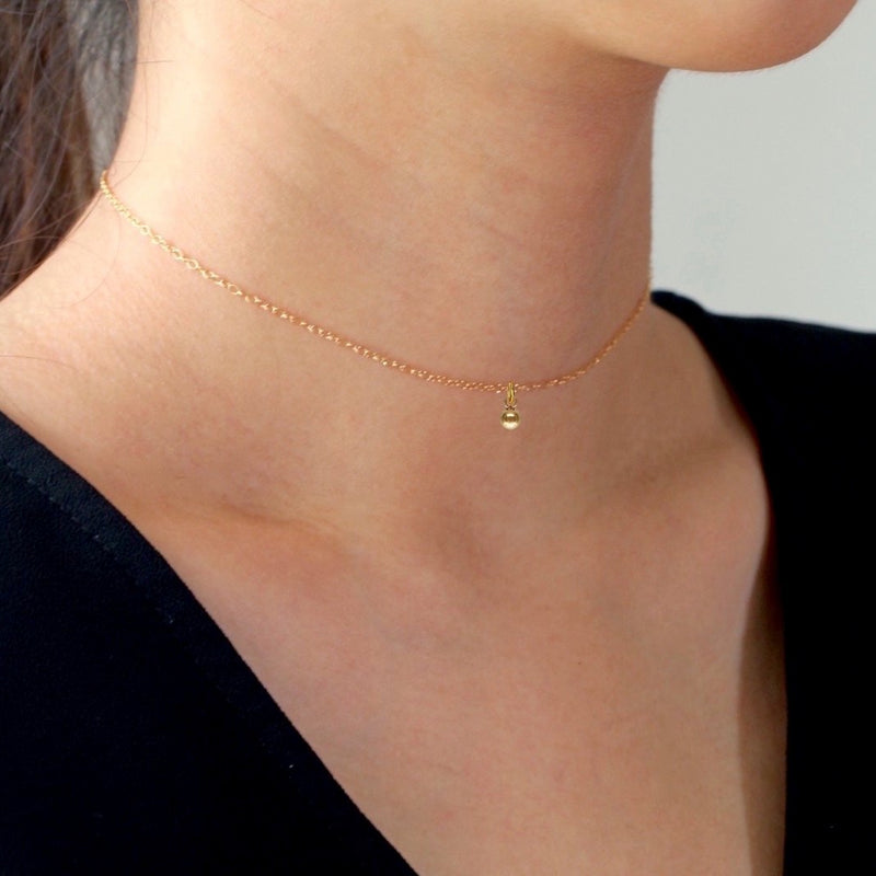 Mini Gold Ball Choker