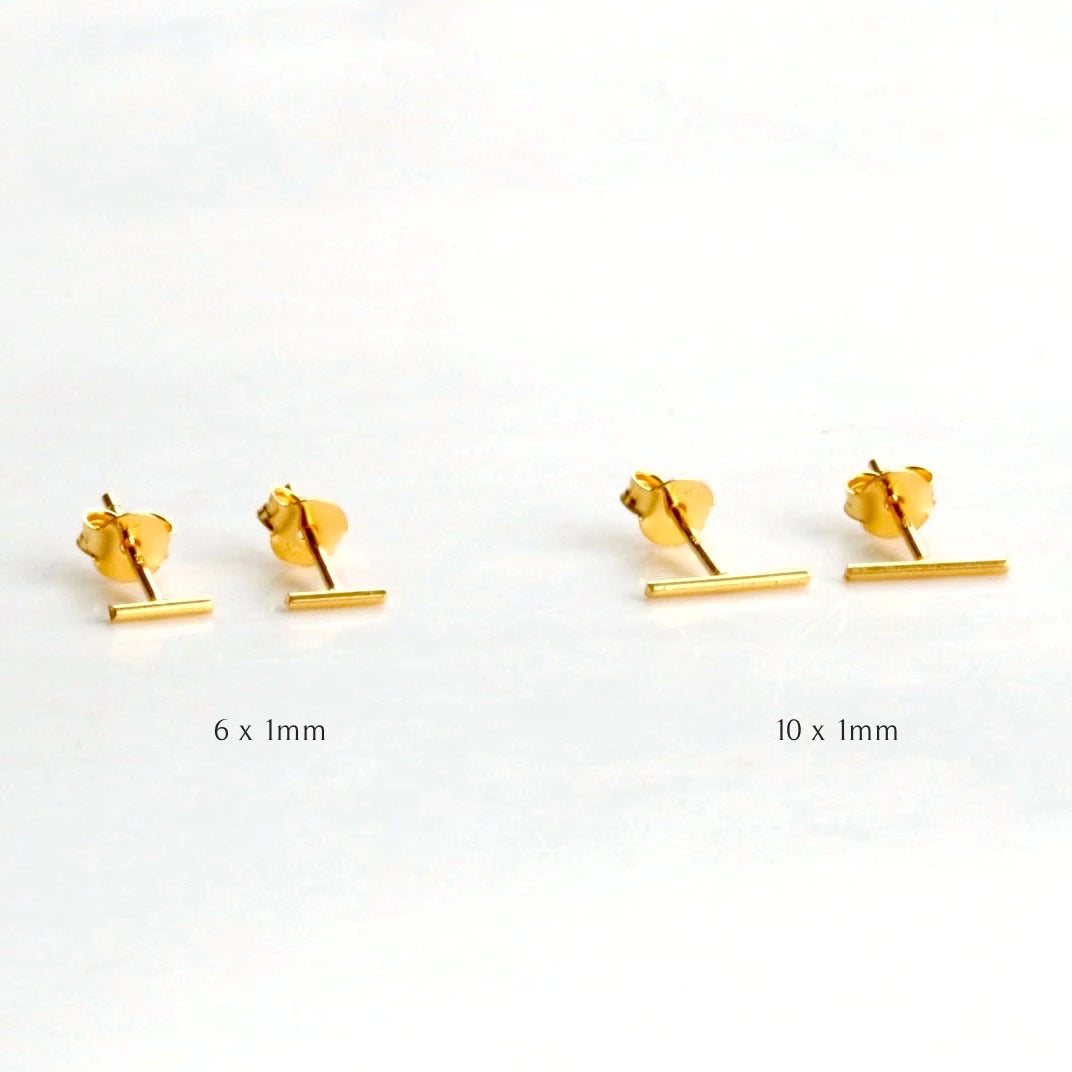 Mini Skinny Bar Stud Earrings