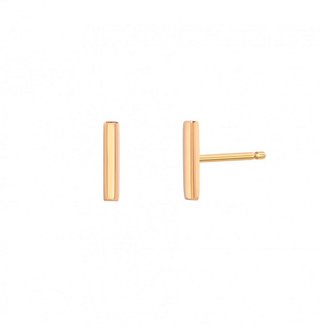 Minimal Bar Stud Earrings
