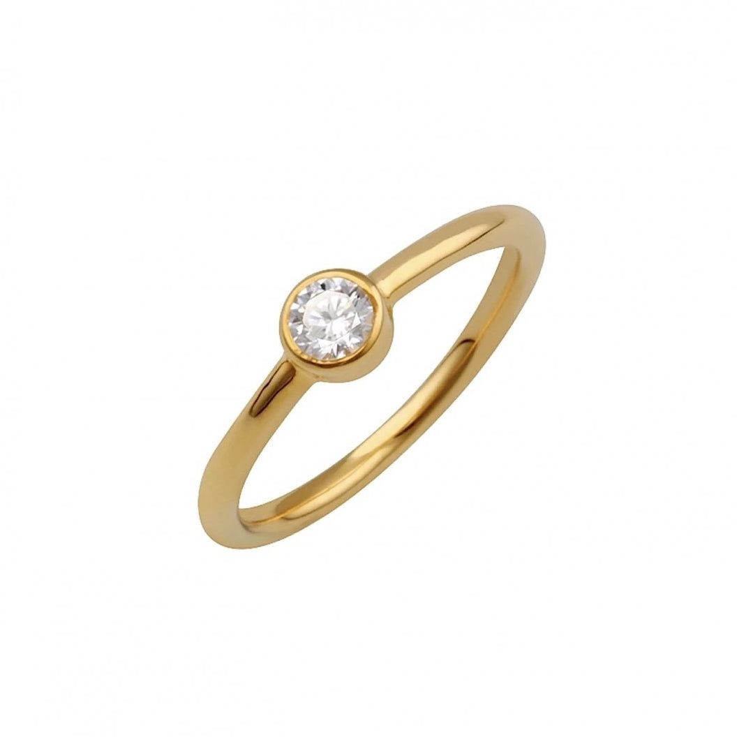 Minimal Solitaire Ring Gold