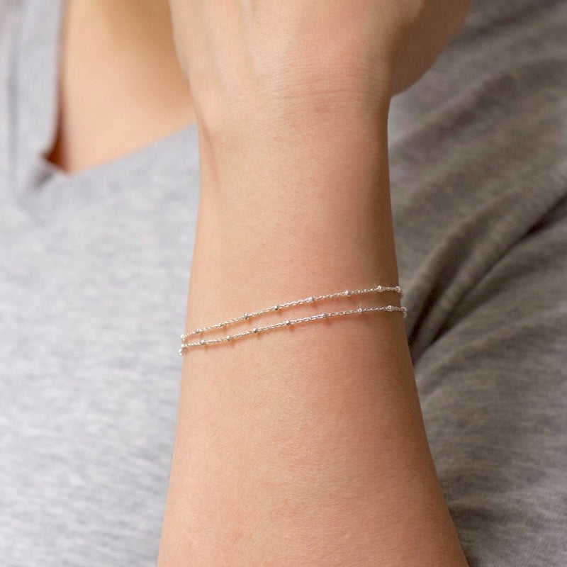 Minimal Satellite Chain Bracelet