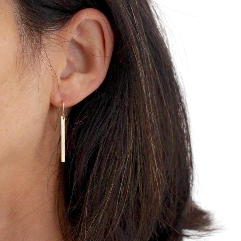Sleek Bar Drop Earrings