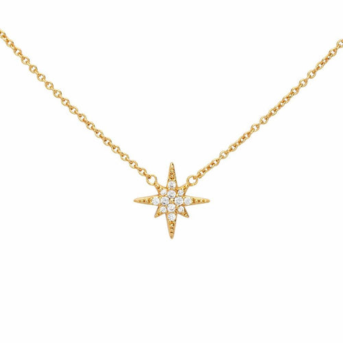 Pave Starburst Necklace