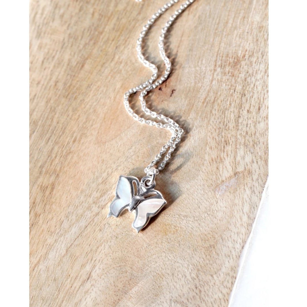 Pearly Butterfly Necklace