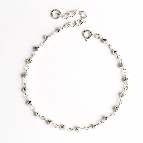 Pyrite Ball Anklet