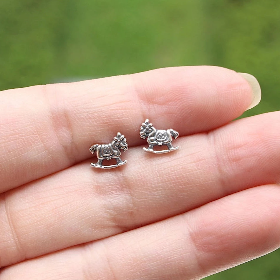 Rocking Horse Stud Earrings