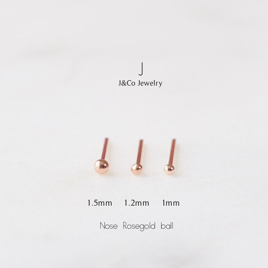 Rose Gold Ball Nose Stud J Co Jewellery