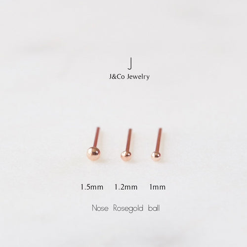 Rose Gold Ball Nose Stud