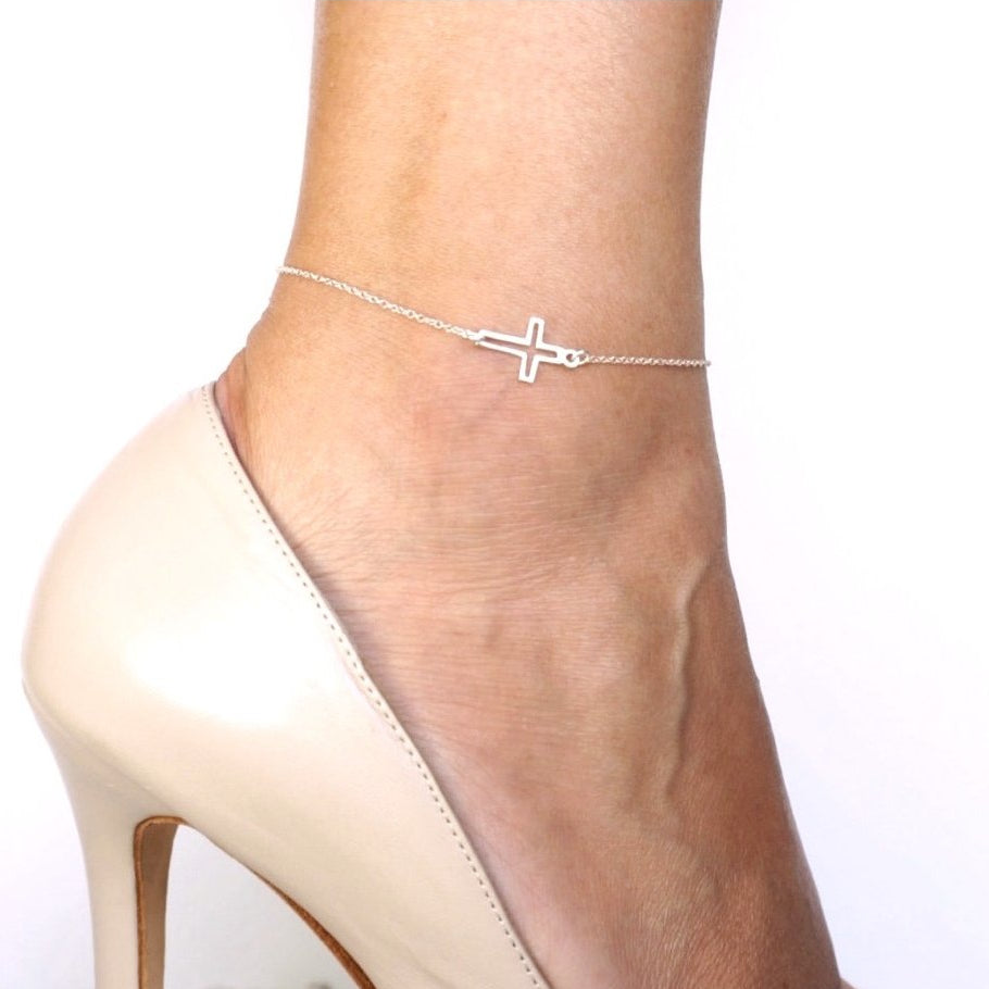 Sacred Cross Anklet