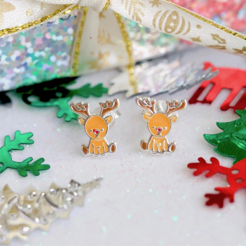 Santa's Reindeer Stud Earrings