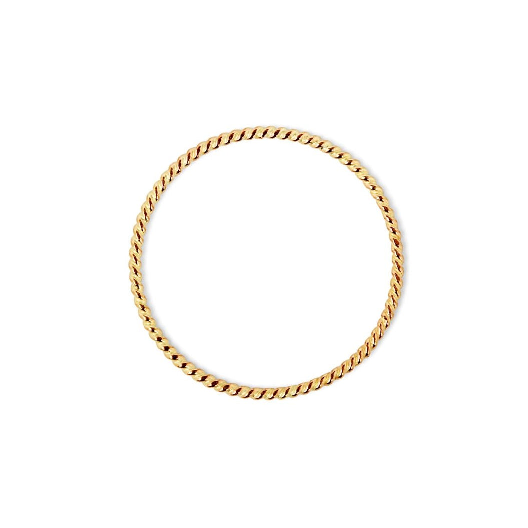 Skinny Twist Ring Gold