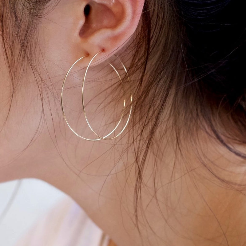Sleek Big Hoop Earrings