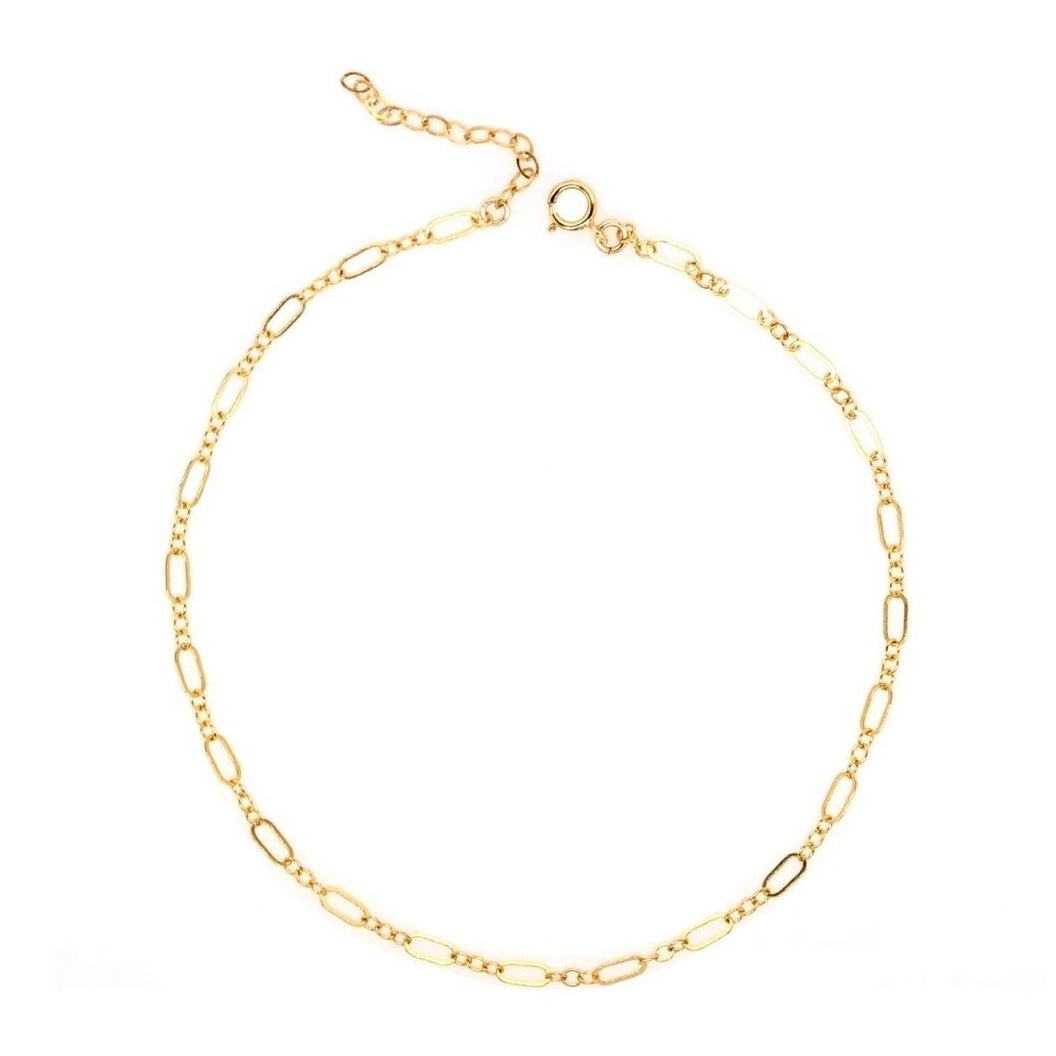 Sleek Gold Chain Anklet