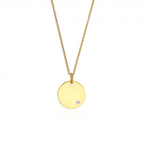 Space Disc Necklace