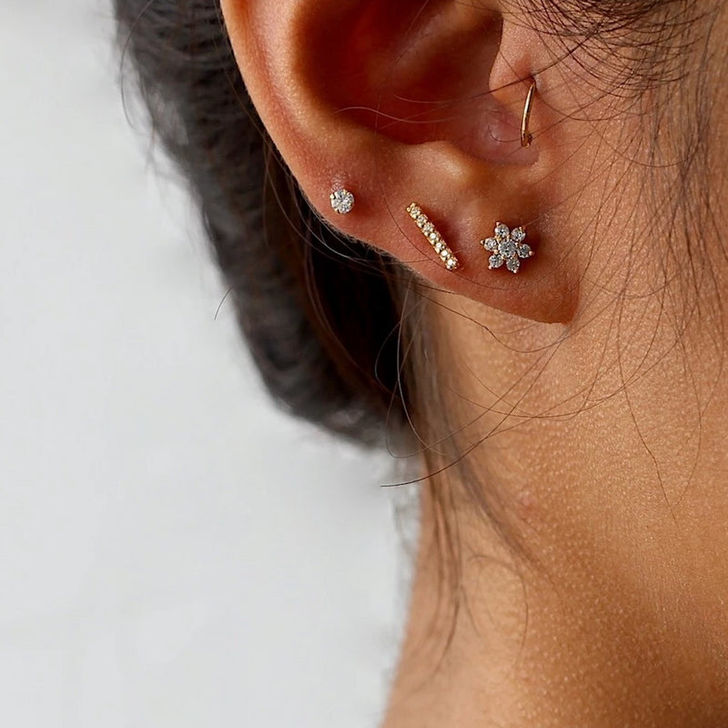 Sparkle Bar Stud Earrings