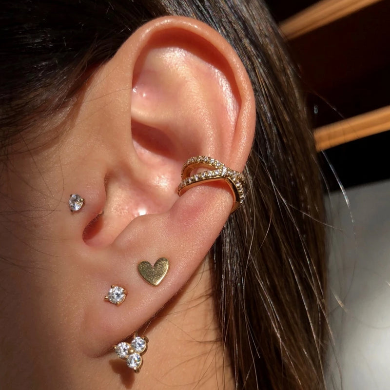 Sparkle Criss Cross Ear Cuff