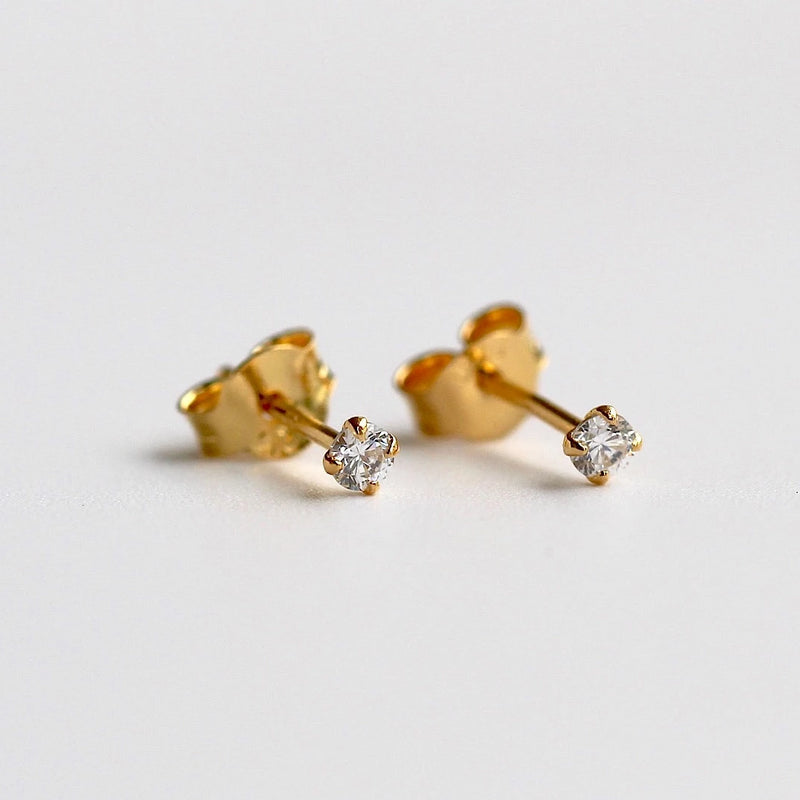 Sparkly Tiny Stud Earrings 2.5mm