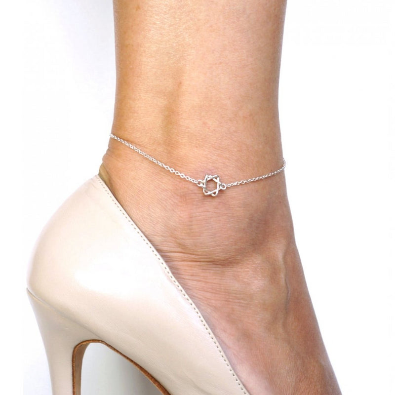 Star Of David Anklet