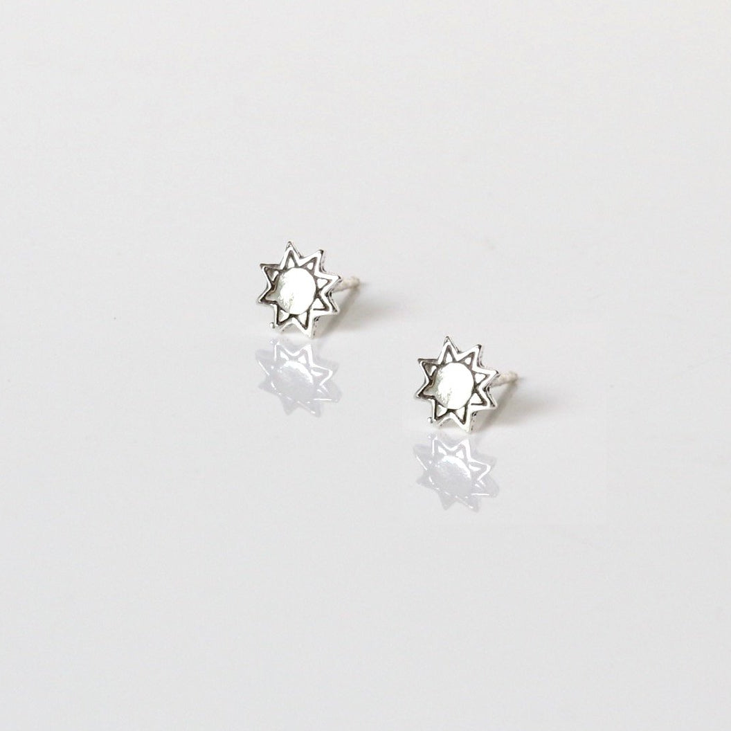 Bohemian Sun Stud Earrings