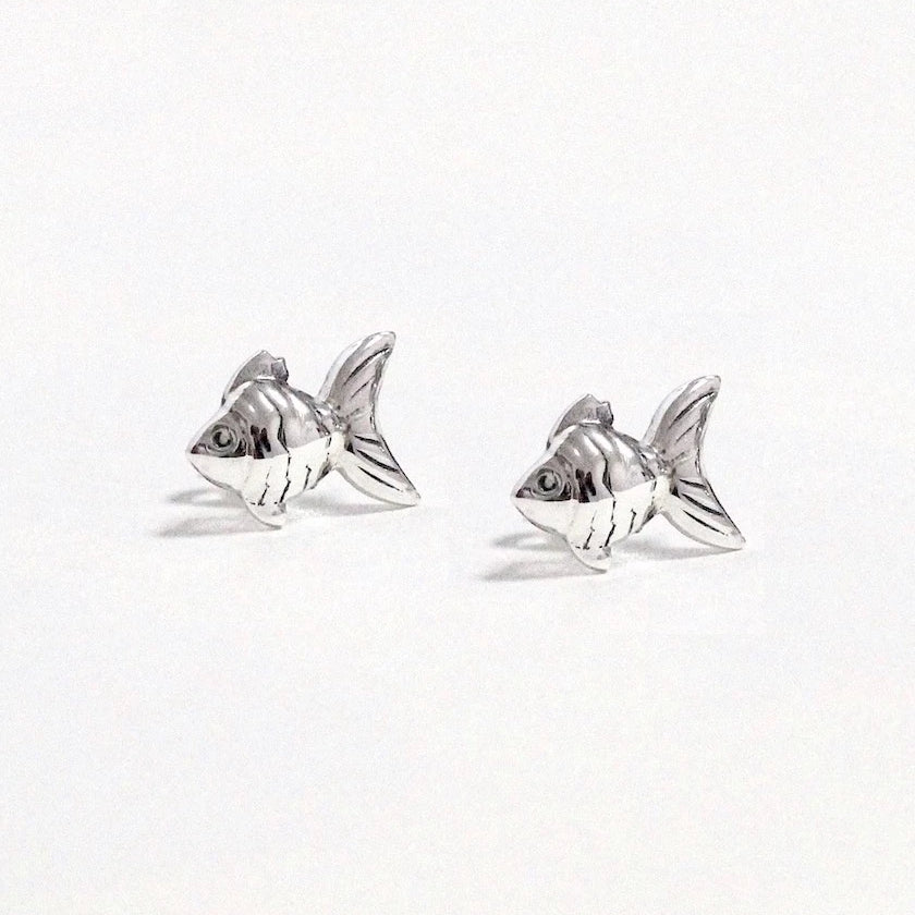 Swimming Fish Stud Earrings