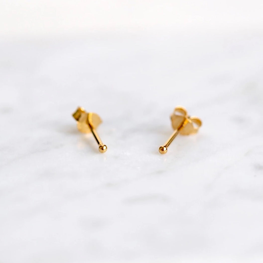 Teeny Baby Ball Stud Earrings