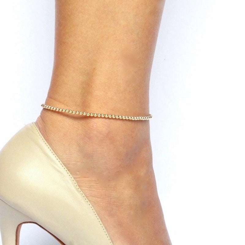 Timeless Beaded Anklet