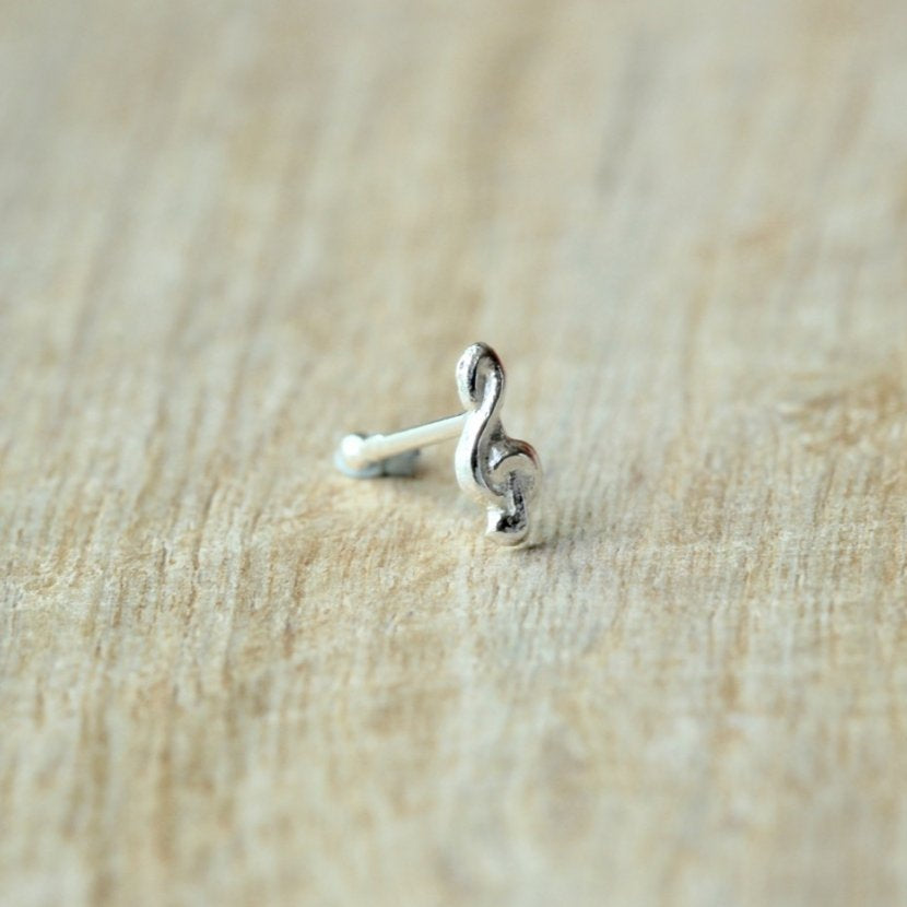Treble Clef Nose Pin
