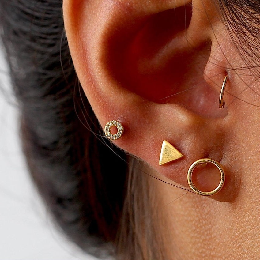 Triangle Chic Stud Earrings