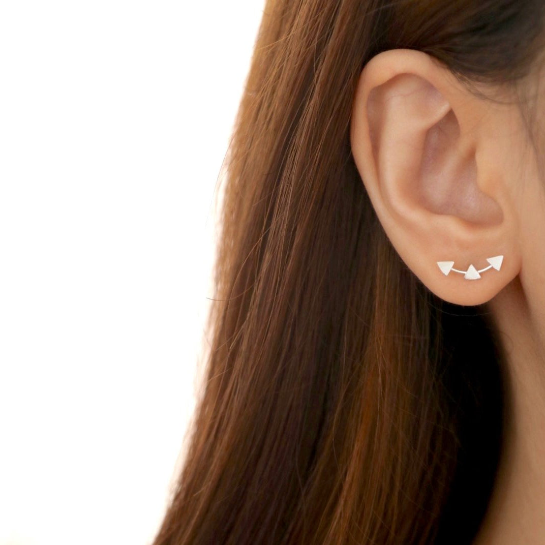 Triple Triangle Stud Earrings