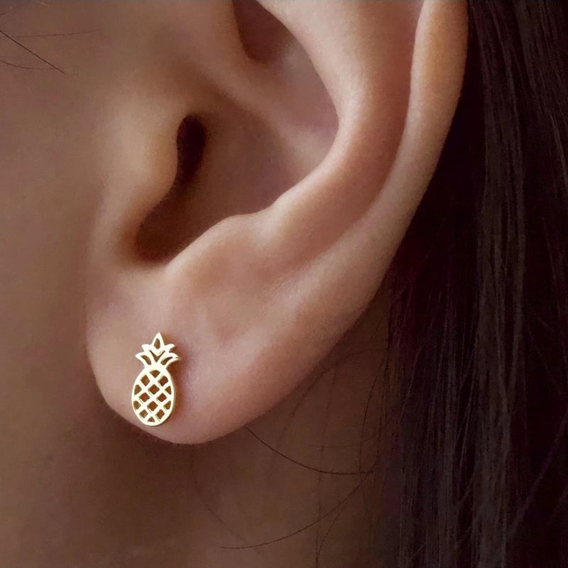 Tropical Pineapple Stud Earrings