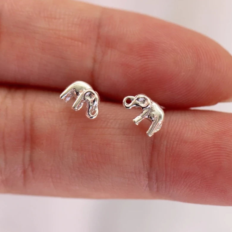 Trunk Elephant Stud Earrings