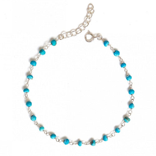 Turquoise Rosary Anklet