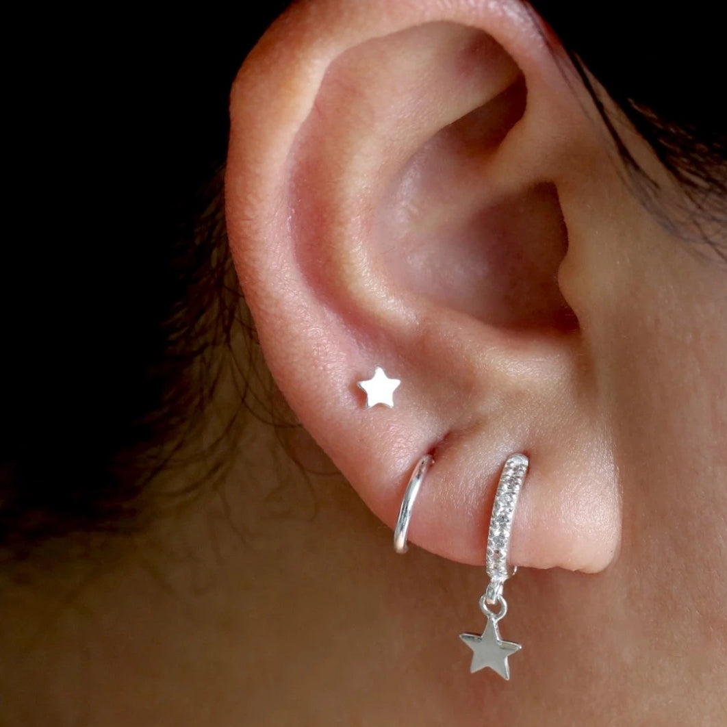 Twinkle Little Star Stud Earrings