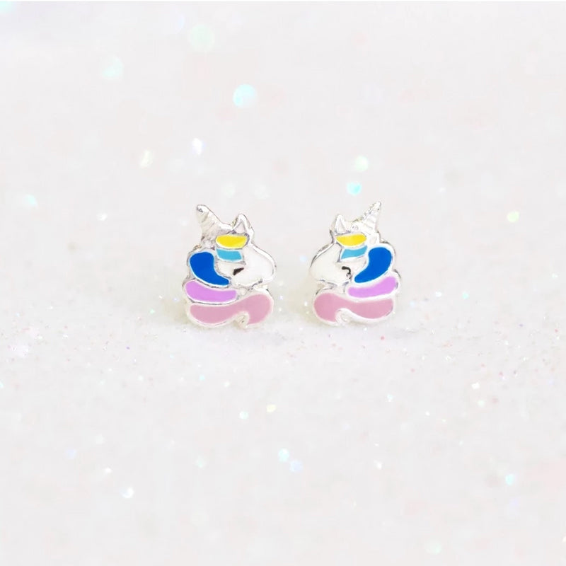 Vibrant Unicorn Stud Earrings