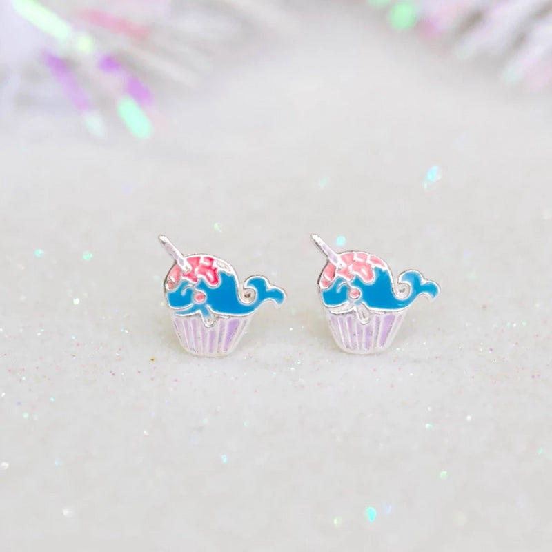 Whale Unicorn Stud Earrings