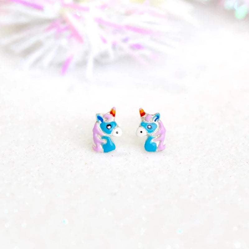 Whimsical Unicorn Stud Earrings